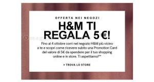 H&M ti regala 5 euro