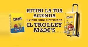 agenda M&M's omaggio e vinci trolley