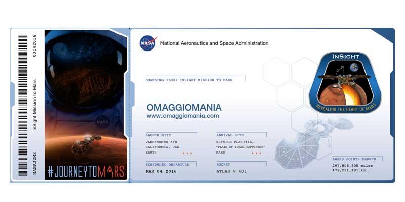 biglietto missione NASA InSight
