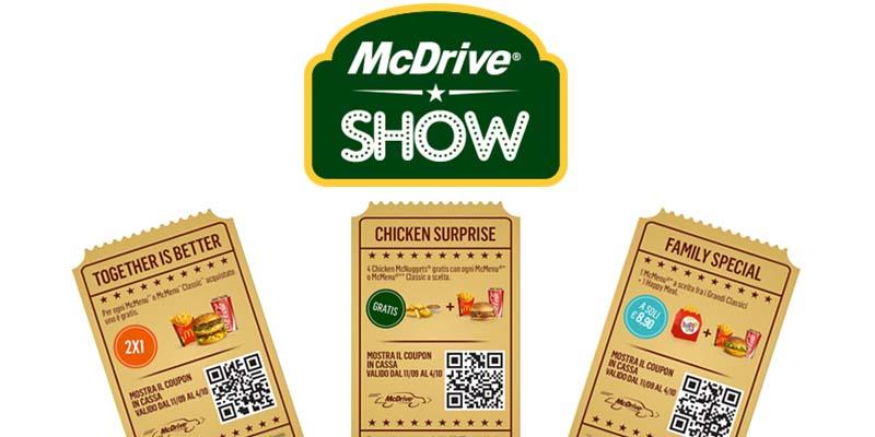 buoni sconto McDrive Show