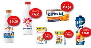 buoni sconto Parmalat settembre 2015