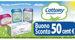 buoni sconto prodotti ipoallergenici Cottony da Carrefour