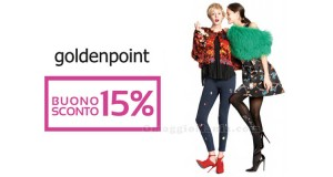 buono sconto Goldenpoint 15%