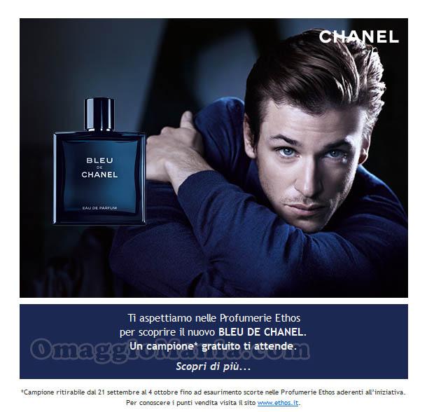 campione omaggio Blue de Chanel Ethos Profumerie