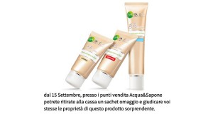 campioni omaggio BB Cream Garnier da Acqua&Sapone