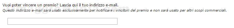 campo email questionario Birra Bavaria