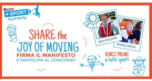 concorso Ferrero+Sport Share the Joy of Moving