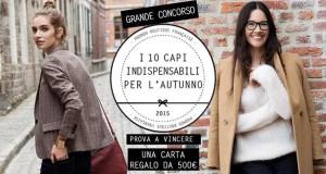 concorso Promod I 10 capi indispensabili per l'autunno