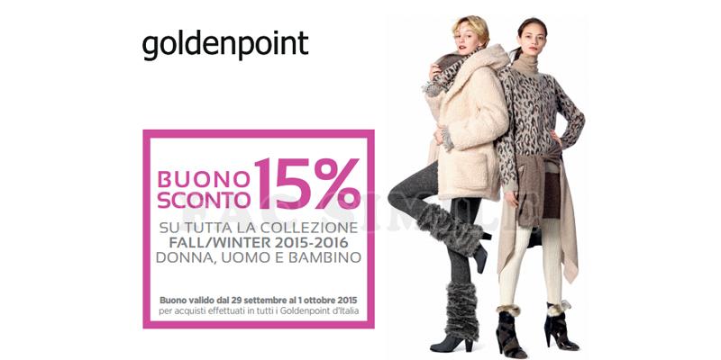 coupon goldenpoint dal 29-09 al 01-10