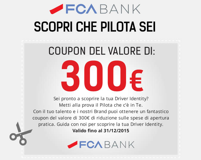 gioca e vinci un coupon FCA Bank