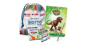 kit scuola omaggio Giotto Kinder Nutella Estathé