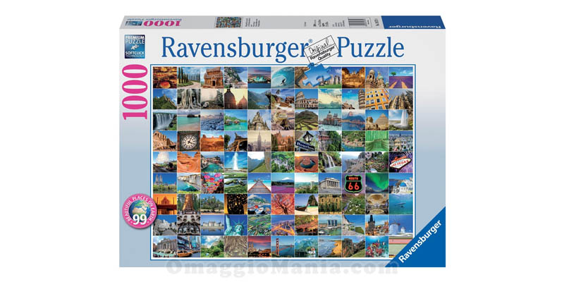 puzzle Ravensburger 99 Beautiful Places on Earth