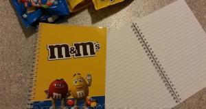 quaderni M&M's in omaggio