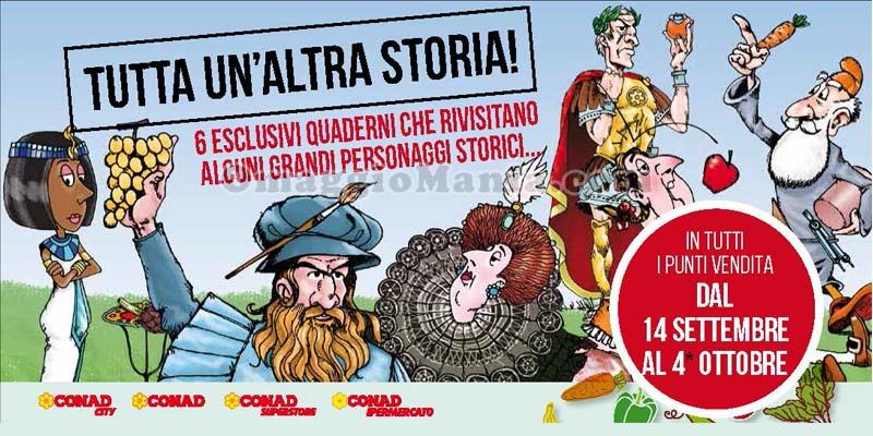 quaderni omaggio CONAD Tutta un'altra storia