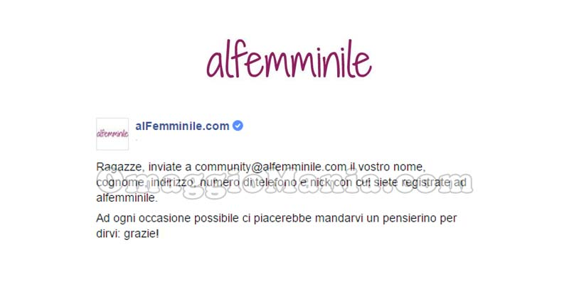 regalo AlFemminile