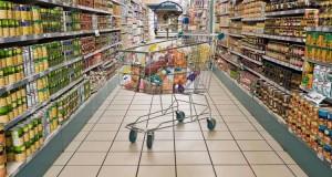 supermercato con carrello