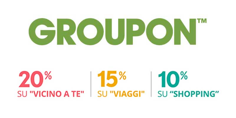 triplo codice sconto Groupon 08-09-2015