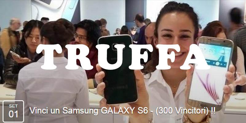 truffa 300 vincitori Samsung Galaxy S6