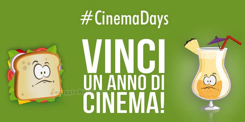 vinci un anno di cinema con #CinemaDays