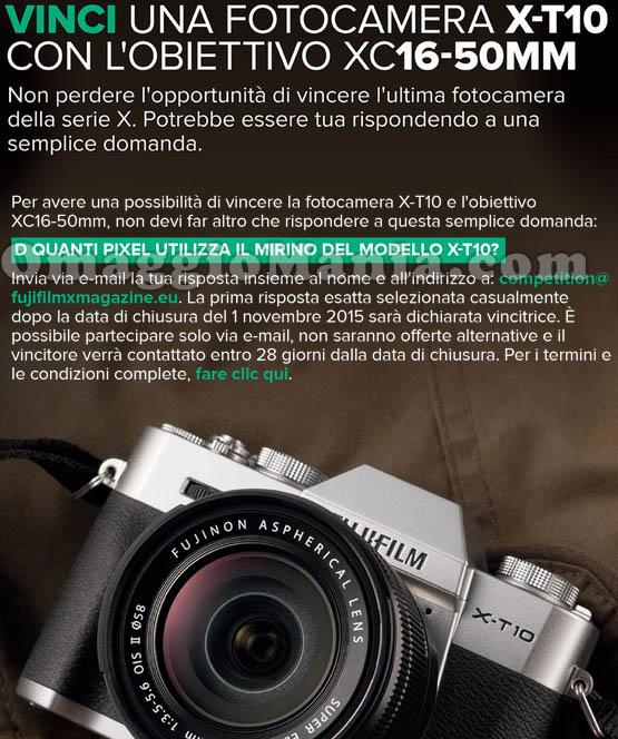 vinci una fotocamera Fujifilm X-T10