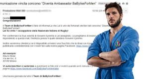 vincita accappatoio Nazionale Italiana di Rugby