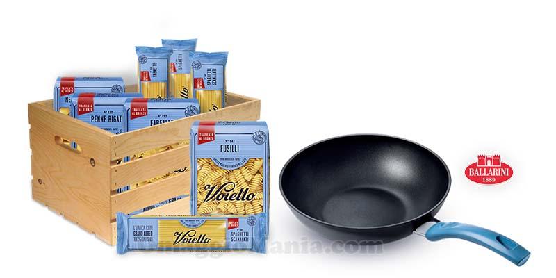 5 kg di Pasta Voiello e saltapasta Ballarini