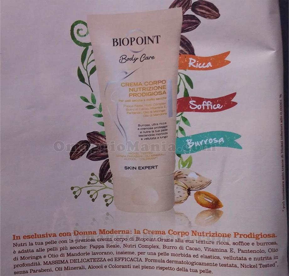 anticipazione crema corpo Biopoint Donna Moderna