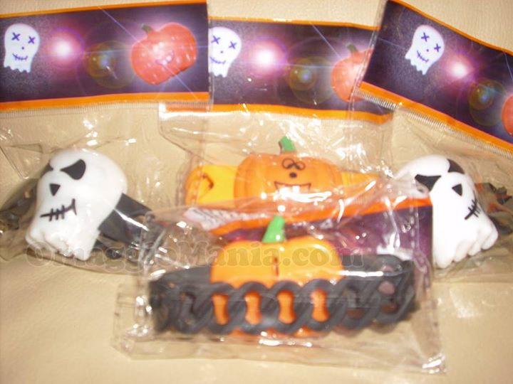 braccialetti di Halloween ricevuti da Nadia