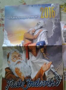 calendario Frate Indovino 2016 ricevuto da Tizzi
