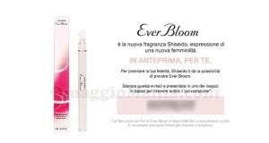 campioni omaggio profumo Shiseido Ever Bloom da Coin