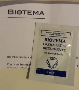 crema latte detergente Biotema campione omaggio Patrizia