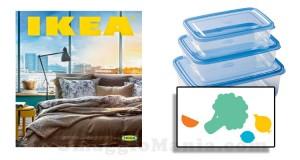 etichette omaggio con il catalogo IKEA