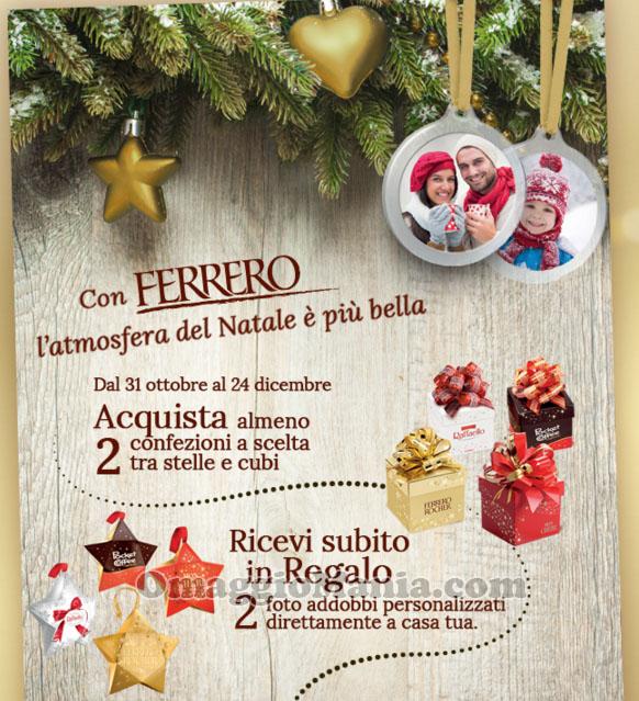 foto addobbi natalizi in omaggio da Ferrero