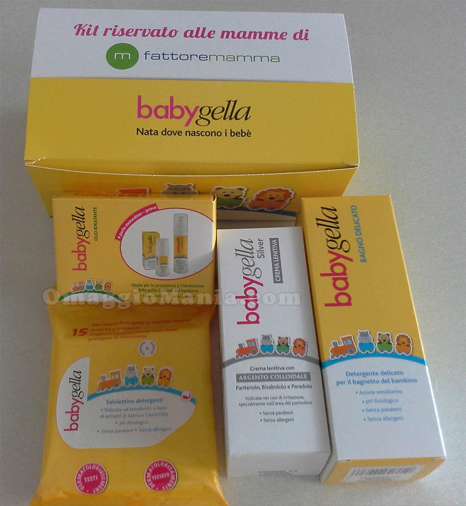 kit da testare Babygella con Fattore Mamma