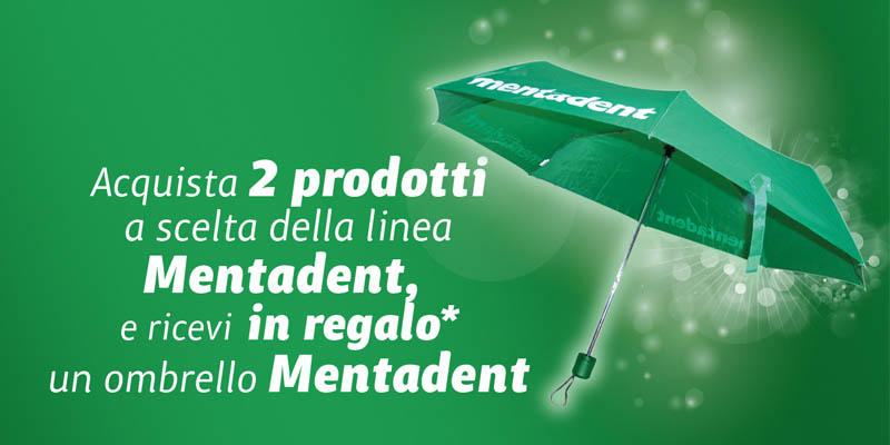 ombrello Mentadent omaggio