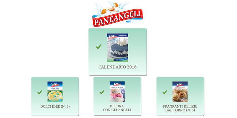richiesta calendario Paneangeli 2016 omaggio