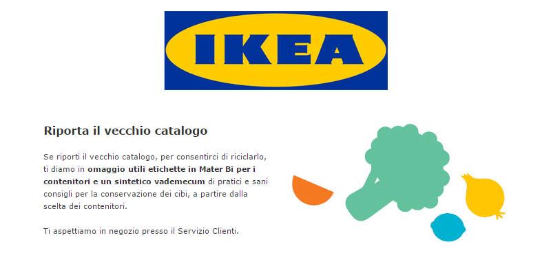 riporta il vecchio catalogo IKEA