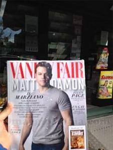 rivista Vanity Fair di Sabrina