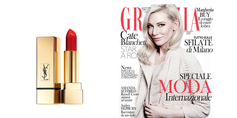 rossetto Yves Saint Laurent con Grazia