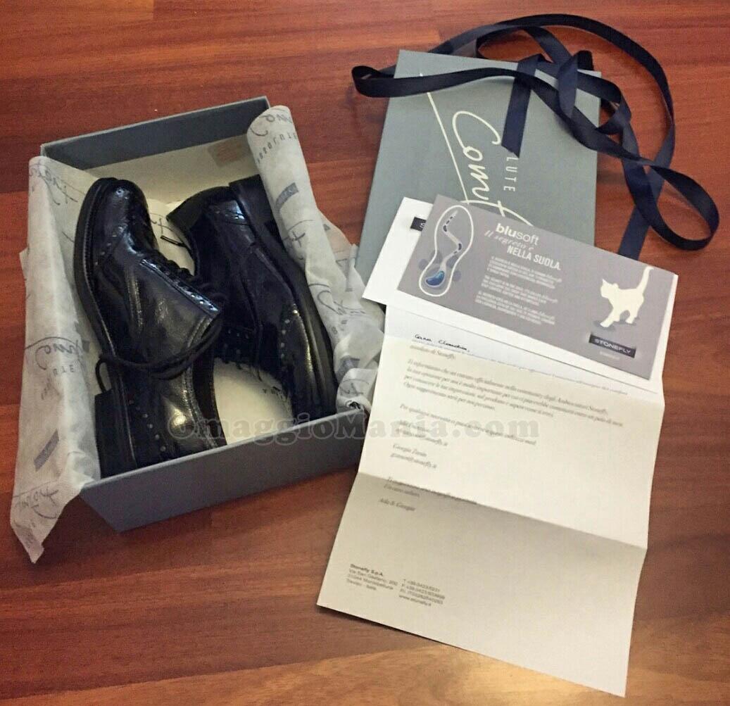 scarpe Stonefly ricevute gratis da Claudia