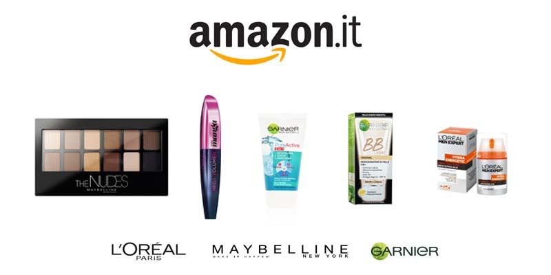 sconto L'Oreal Maybelline Garnier Amazon