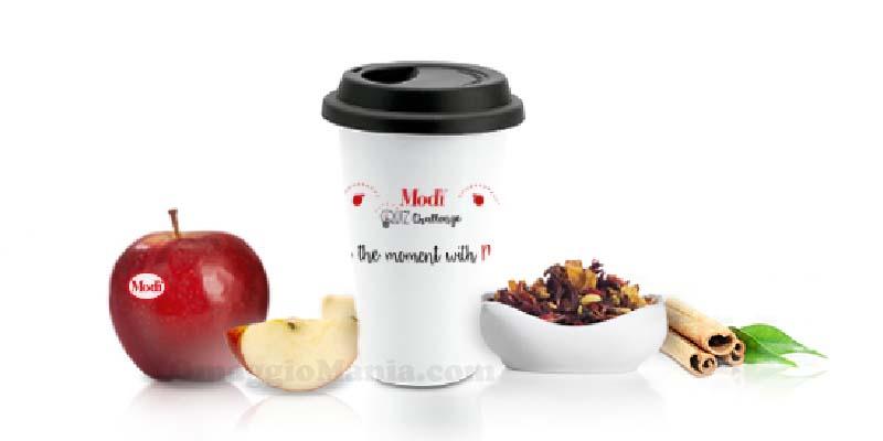 tazza in ceramica e tisane di mela Modì