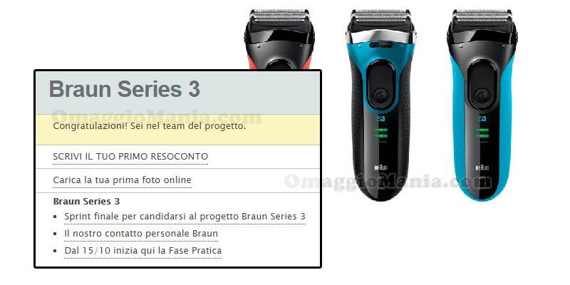 tester Braun Series 3 con TRND