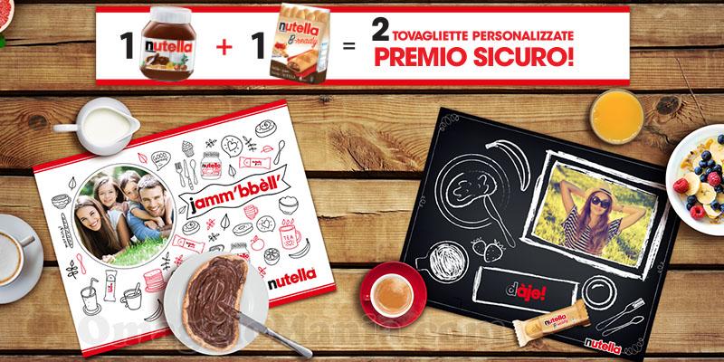 tovagliette Nutella premio sicuro 1