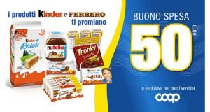 vinci buoni spesa con Kinder e Ferrero da COOP