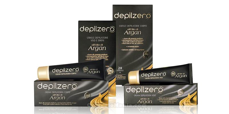 vinci kit di prodotti Depilzero all'olio di Argan