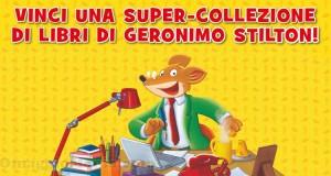 vinci una super-collezione di libri di Geronimo Stilton