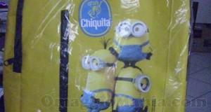 zaino MInions Chiquita vinto e ricevuto da Nadia