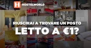 2.000 posti letto a 1€ da HostelWorld