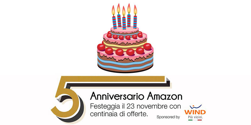 Anniversario Amazon 5 anni